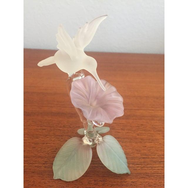 Hummingbird Blown Glass Figurine - Image 5 of 8