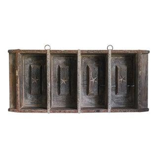 Brazilian Wooden Brick Mold Shelf