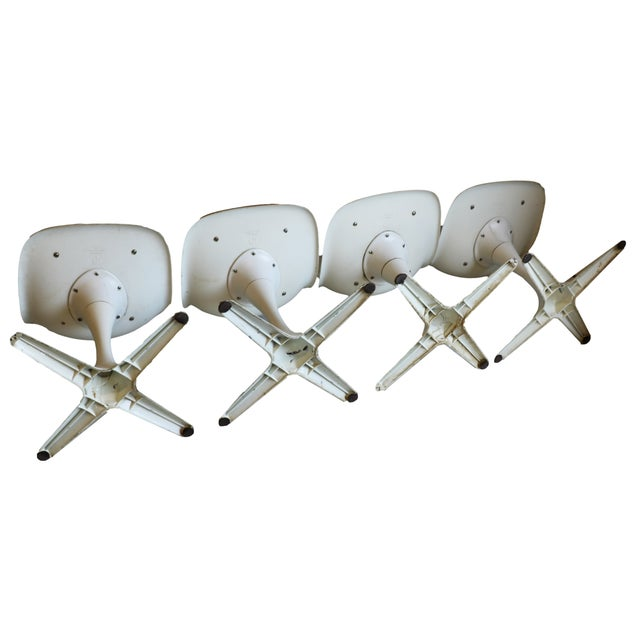 Mid-Century Modern Burke Tulip Chairs - Set of 4 - Image 4 of 9