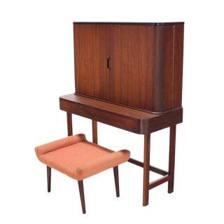 Rosewood Art Deco Open Up Vanity with Light