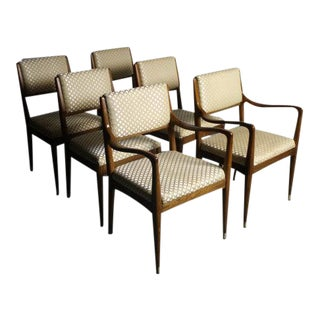 Mid-Century Walnut Dining Chairs - Set of 6