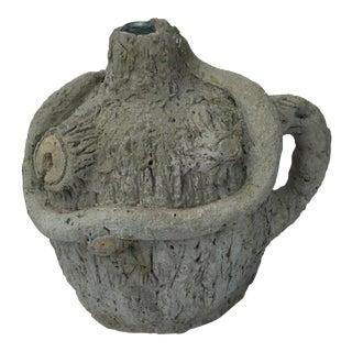 Faux Bois Garden Jar
