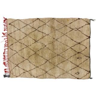 Berber Moroccan Rug with Minimalist Design, 03'03 X 04'03