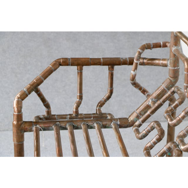 Modern Copper Pipe Bench - Image 6 of 11