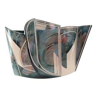 1980's Art Vase Sculpture by Hubert