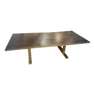 Square Roots Live Edge Dining Table With Chrome Legs