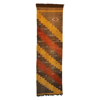 """Striped Vintage Moroccan Cactus Silk Rug - 2'2"""" x 7'8"""""""