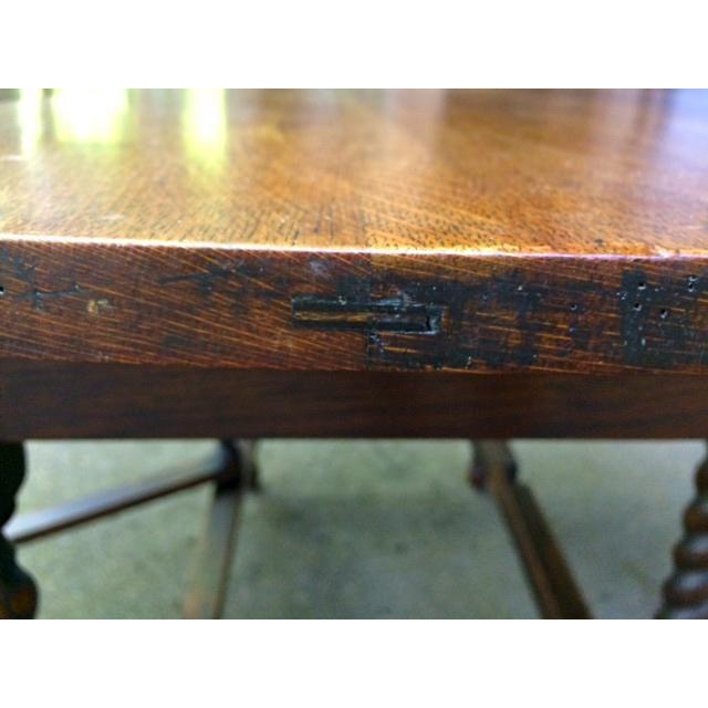 Antique Oak Drop Leaf Table - Image 5 of 6