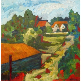 French Country Lane Oil Painting