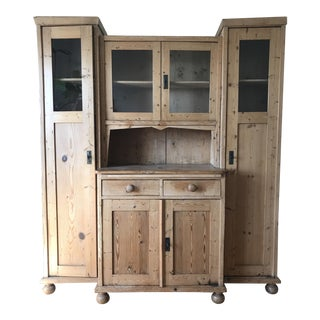 19th C. Rustic Pine Hutch