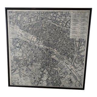 Restoration Hardware Vintage Inspired Aerial Paris Map