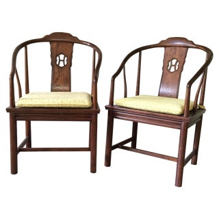 Henredon Horseshoe-Back Chairs - Pair