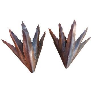 Rustic Metal Sconces - A Pair
