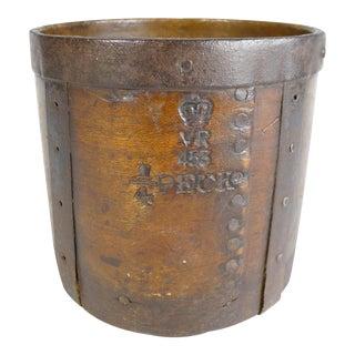 Antique 19th C. English 1/4 Peck Dry Measure