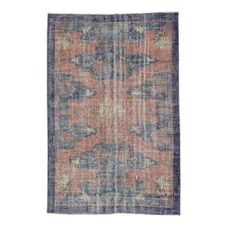 Vintage Turkish Deco Rug - 5′7″ × 8′5″