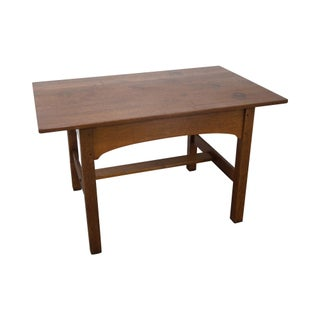 Vintage used mission writing desks chairish for 100 year old oak table