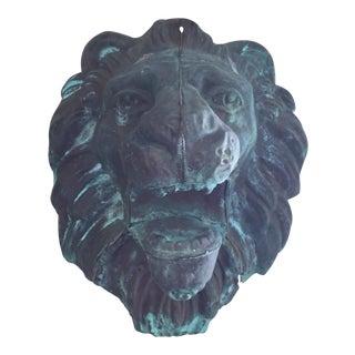 Sculptural Copper Lion Head