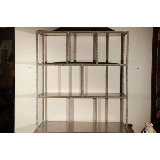 Paul Marra Bookcase in Faux Bronze - Image 3 of 8