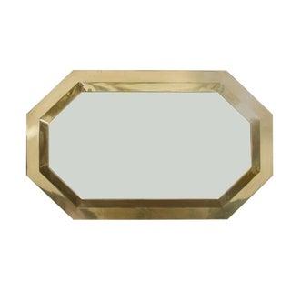 Brass Framed Octagonal Wall Mirror