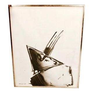 """Matsumi Kanemitsu """"Untitled (1964)"""" Sumi Drawing"""