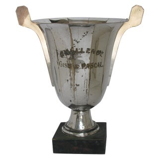 Very Large French Vintage Silver Urn Trophy