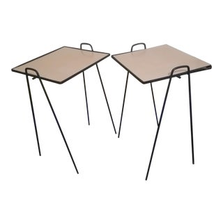 Arthur Umanoff Wrought Iron Nesting Tables - a Pair