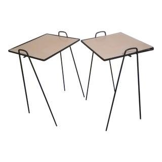 Arthur Umanoff Mid-Century Iron Nesting Tables - A Pair