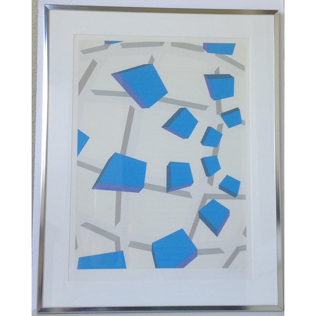 Original Signed Abstract Geometric Lithograph - Image 11 of 11