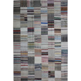 "Hand Knotted Patchwork Kilim by Aara Rugs Inc. - 11'5"" x 8'1"""