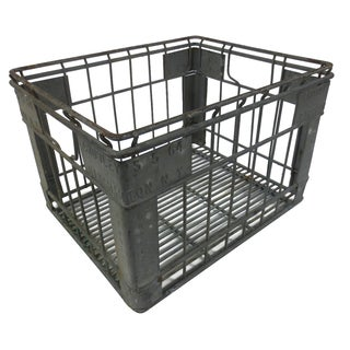 Industrial Square Metal Crate