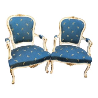 French Louis XVI Style Chairs - A Pair