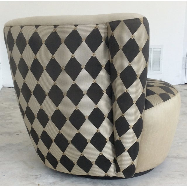 Image of Vladimir Kagan Style Lounge Chairs - Pair
