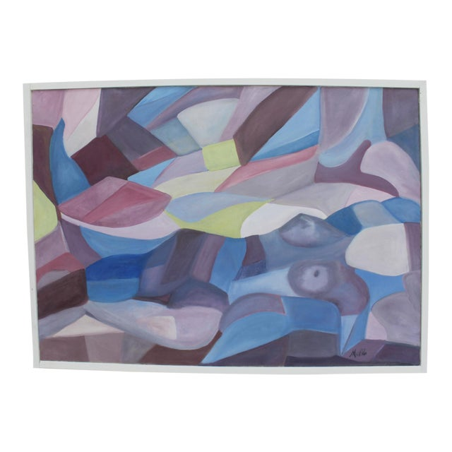 Vintage Cubist Painting of a Woman - Image 1 of 10