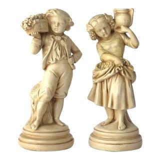 Alexander Backer Chalkware Figurines - A Pair