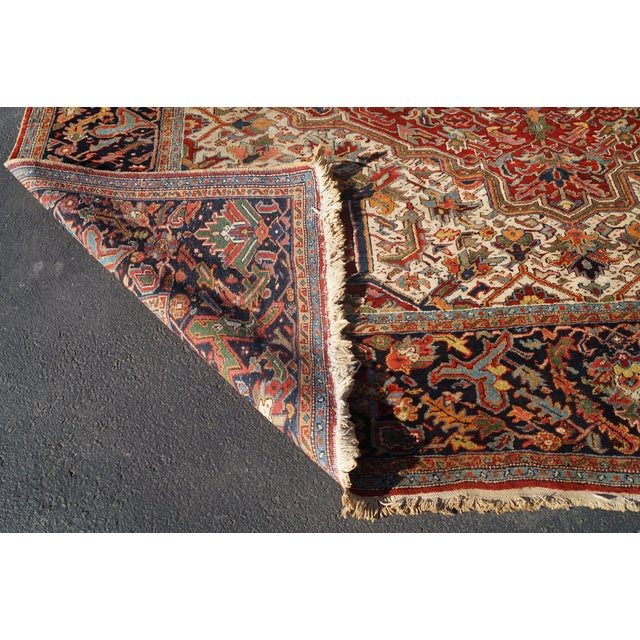 Antique Hand Woven Persian Heriz Rug - 11′6″ × 16′8″ - Image 2 of 10