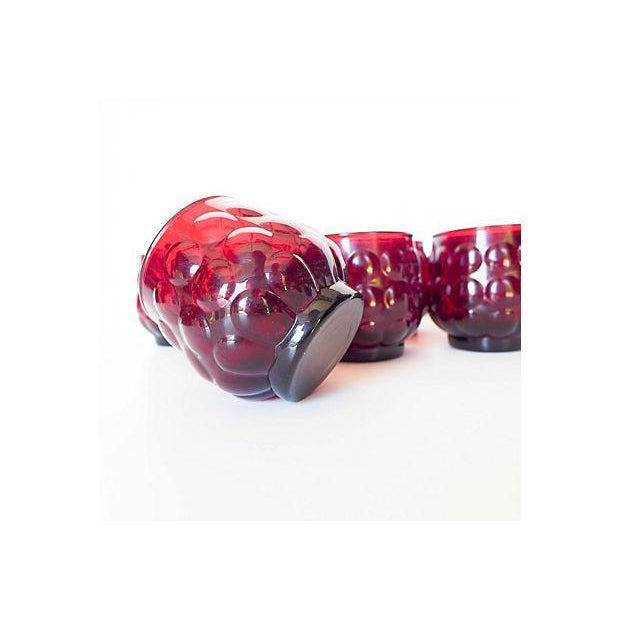 Mid-Century Ruby Red Glasses - Set of 8 - Image 5 of 8