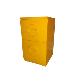 Pop Art Yellow Filing Cabinet