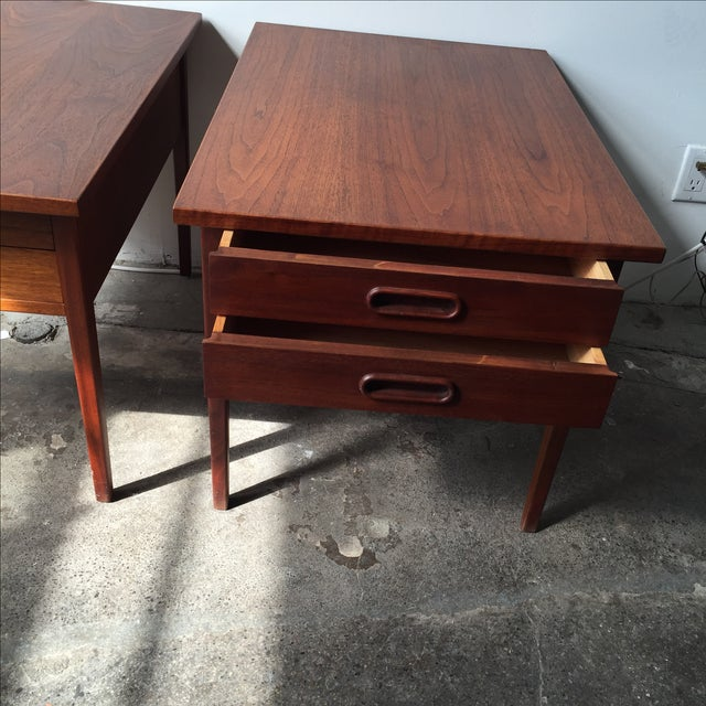 Teak Mid-Century Side Tables - Pair - Image 9 of 10