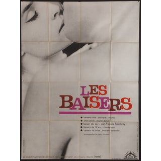 "1964 French ""Les Baisers"" Film Poster"