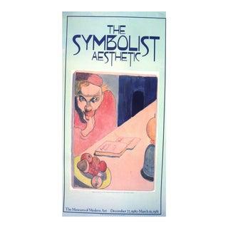 Vintage Museum of Modern Art Symbolist Aesthetic Poster 1980