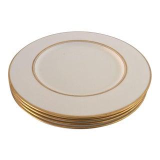 Ivory & Gold Rim Dinner Plates - Set of 4