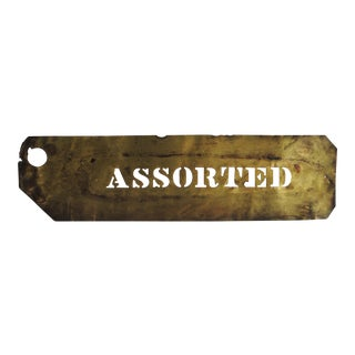 "Vintage Brass ""Assorted"" Wine Stencil"