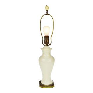 Vintage Antique White Porcelain Table Lamp