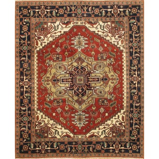 Pasargad NY Serapi Design Hand-Knotted Rug - 8' x 9'10""