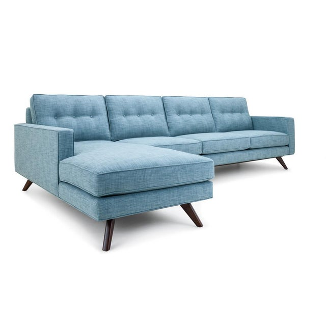Clad Home Mid Century Style Tufted Sectional Chairish