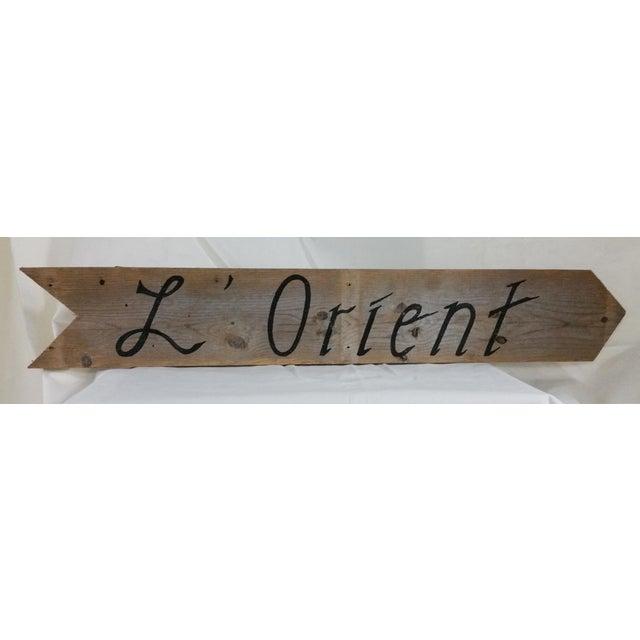 Image of l'Orient Sign St Barts Souvenir