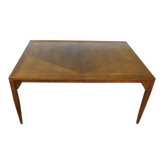 1960s Baker Walnut Parsons Style Dining Table