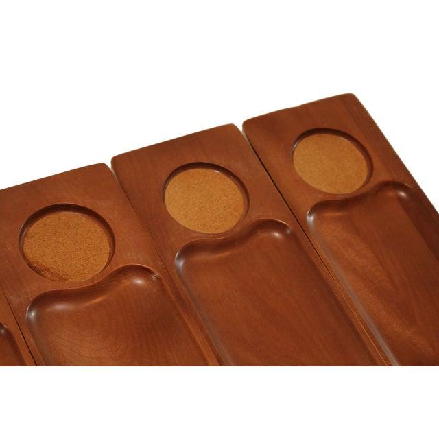Mid-Century Teak Appetizer Trays - S/6 - Image 4 of 4