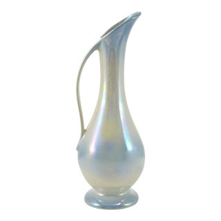 Blue & Cream Lusterware Vase