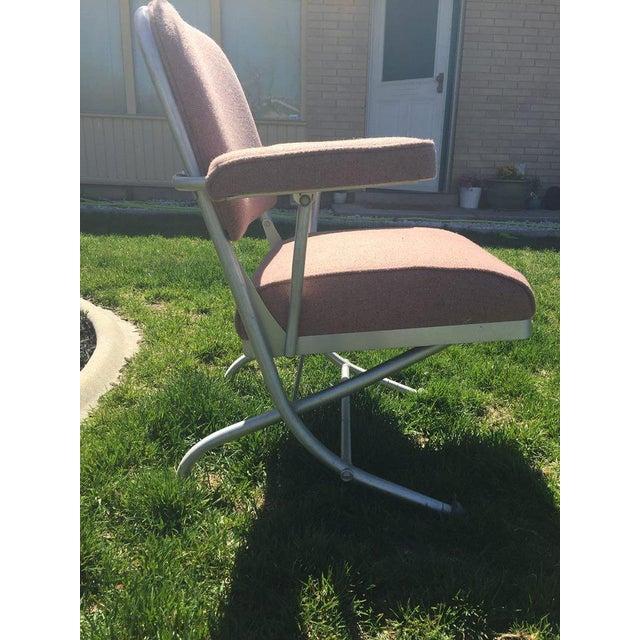 Warren McArthur Pink Upholstered Folding Chair - Image 8 of 8